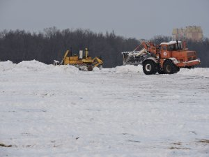Ликвидация последствий снегопада велась в течение всей прошедшей недели