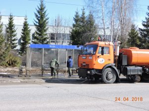66 единиц спецтехники АО «Дорэкс» и 149 человек дорожных рабочих задействованы сегодня в работах по благоустройству