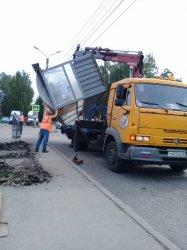 Работы службы по эксплуатации дорог