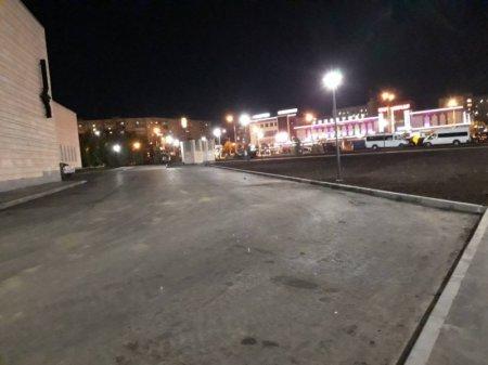 В строящемся Кадетском сквере полностью завершены дорожные работы