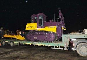 В ночь на 8 ноября на базу АО «Дорэкс» поступил новый бульдозер Т-11