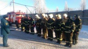 На предприятии прошли пожарно-тактические учения