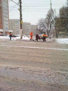 Ликвидация последствий сильного снегопада