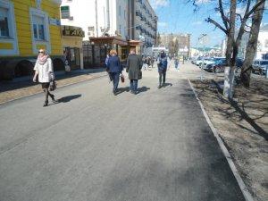 Тротуар на проспекте Ленина в Чебоксарах обновили оперативно