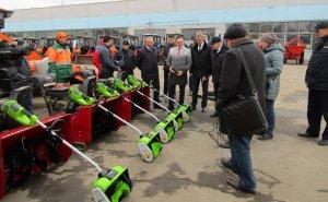 Ежегодный смотр готовности спецтехники для работы в зимний период