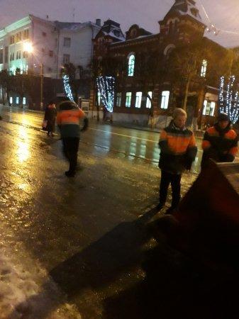 Устранение последствий ледяного дождя 16.01.2020 г.
