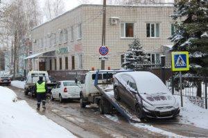 В Чебоксарах в январе из-под запрещающих знаков принудительно эвакуировано 160 автомобилей