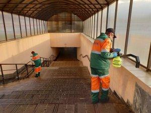 АО «Дорэкс» продолжает санитарную обработку с применением дезинфицирующих средств