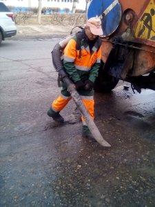 Текущие работы по ямочному ремонту (фоторепортаж)