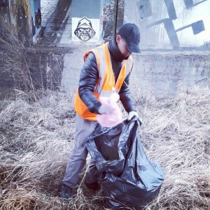 Уборка мусора под мостами г. Чебоксары