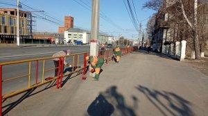 В городе наводятся последние штрихи по подготовке к майским праздникам